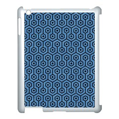 Hexagon1 Black Marble & Blue Colored Pencil (r) Apple Ipad 3/4 Case (white) by trendistuff