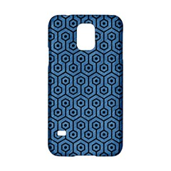 Hexagon1 Black Marble & Blue Colored Pencil (r) Samsung Galaxy S5 Hardshell Case  by trendistuff