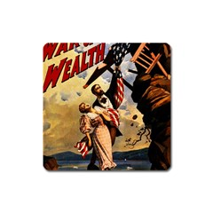 The War Of Wealth Square Magnet by Valentinaart