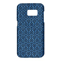 Hexagon1 Black Marble & Blue Colored Pencil (r) Samsung Galaxy S7 Hardshell Case  by trendistuff