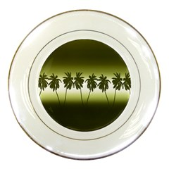 Tropical Sunset Porcelain Plates by Valentinaart