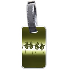 Tropical Sunset Luggage Tags (two Sides) by Valentinaart