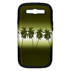 Tropical Sunset Samsung Galaxy S Iii Hardshell Case (pc+silicone)