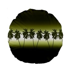 Tropical Sunset Standard 15  Premium Flano Round Cushions