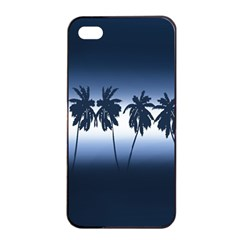 Tropical Sunset Apple Iphone 4/4s Seamless Case (black) by Valentinaart