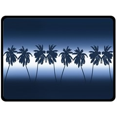 Tropical Sunset Double Sided Fleece Blanket (large)