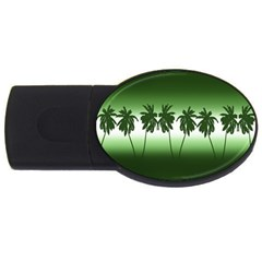Tropical Sunset Usb Flash Drive Oval (4 Gb) by Valentinaart