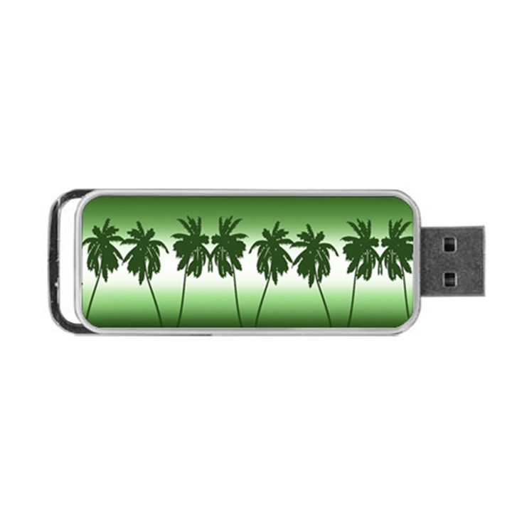 Tropical sunset Portable USB Flash (One Side)