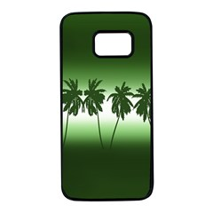 Tropical Sunset Samsung Galaxy S7 Black Seamless Case by Valentinaart