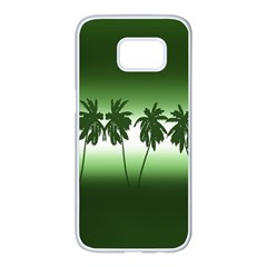 Tropical Sunset Samsung Galaxy S7 Edge White Seamless Case