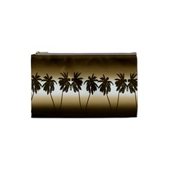 Tropical Sunset Cosmetic Bag (small)  by Valentinaart