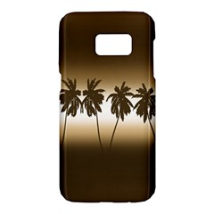Tropical Sunset Samsung Galaxy S7 Hardshell Case  by Valentinaart