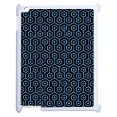 Hexagon1 Black Marble & Blue Colored Pencil Apple Ipad 2 Case (white) by trendistuff