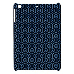 Hexagon1 Black Marble & Blue Colored Pencil Apple Ipad Mini Hardshell Case by trendistuff