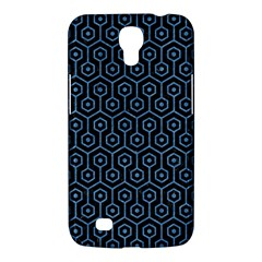 Hexagon1 Black Marble & Blue Colored Pencil Samsung Galaxy Mega 6 3  I9200 Hardshell Case by trendistuff