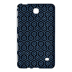 Hexagon1 Black Marble & Blue Colored Pencil Samsung Galaxy Tab 4 (8 ) Hardshell Case  by trendistuff
