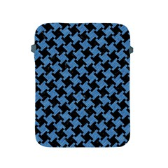 Houndstooth2 Black Marble & Blue Colored Pencil Apple Ipad 2/3/4 Protective Soft Case by trendistuff