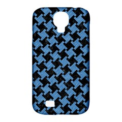 Houndstooth2 Black Marble & Blue Colored Pencil Samsung Galaxy S4 Classic Hardshell Case (pc+silicone) by trendistuff