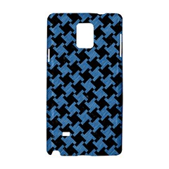Houndstooth2 Black Marble & Blue Colored Pencil Samsung Galaxy Note 4 Hardshell Case by trendistuff