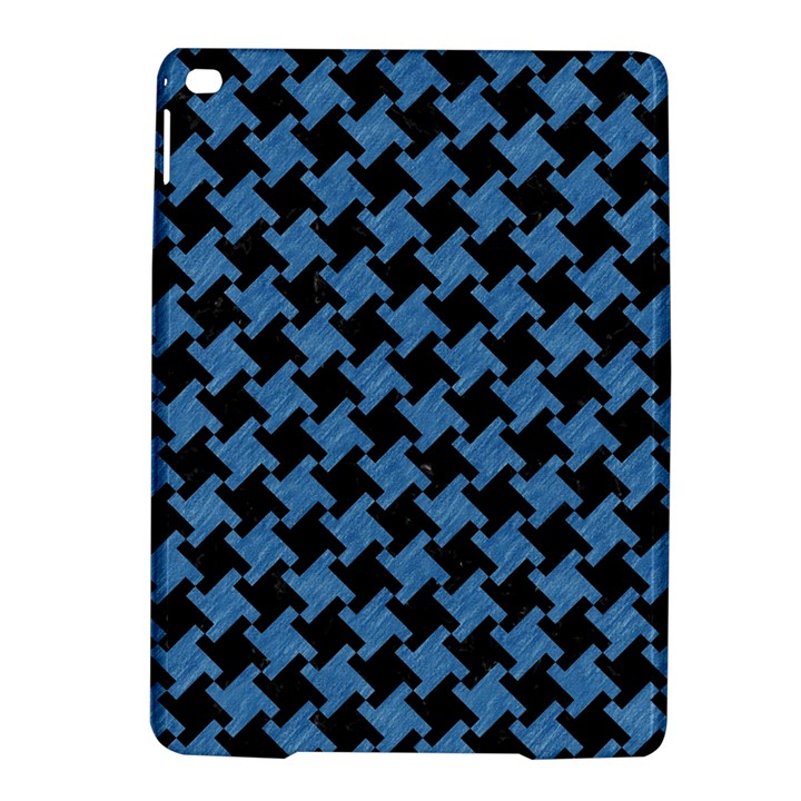 HOUNDSTOOTH2 BLACK MARBLE & BLUE COLORED PENCIL Apple iPad Air 2 Hardshell Case