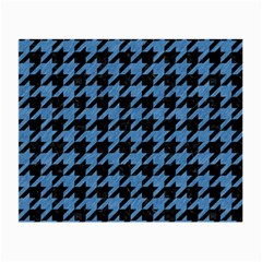 Houndstooth1 Black Marble & Blue Colored Pencil Small Glasses Cloth by trendistuff
