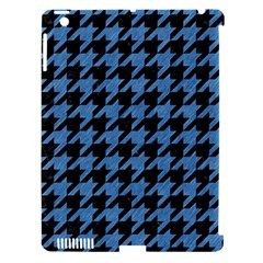 Houndstooth1 Black Marble & Blue Colored Pencil Apple Ipad 3/4 Hardshell Case (compatible With Smart Cover) by trendistuff