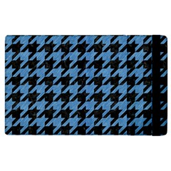 Houndstooth1 Black Marble & Blue Colored Pencil Apple Ipad 2 Flip Case by trendistuff