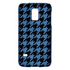 Houndstooth1 Black Marble & Blue Colored Pencil Samsung Galaxy S5 Mini Hardshell Case  by trendistuff