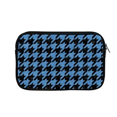 Houndstooth1 Black Marble & Blue Colored Pencil Apple Macbook Pro 13  Zipper Case by trendistuff