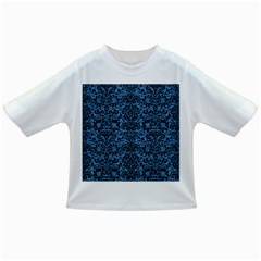 Damask2 Black Marble & Blue Colored Pencil (r) Infant/toddler T Shirt by trendistuff