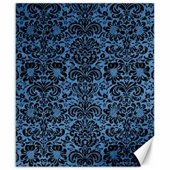 Damask2 Black Marble & Blue Colored Pencil (r) Canvas 20  X 24  by trendistuff