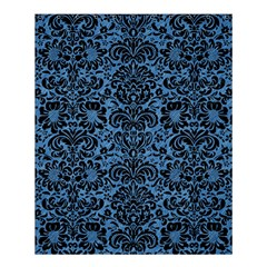 Damask2 Black Marble & Blue Colored Pencil (r) Shower Curtain 60  X 72  (medium) by trendistuff
