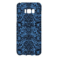 Damask2 Black Marble & Blue Colored Pencil (r) Samsung Galaxy S8 Plus Hardshell Case  by trendistuff