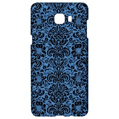 Damask2 Black Marble & Blue Colored Pencil (r) Samsung C9 Pro Hardshell Case  by trendistuff
