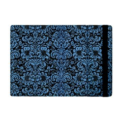 Damask2 Black Marble & Blue Colored Pencil Apple Ipad Mini 2 Flip Case by trendistuff