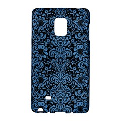 Damask2 Black Marble & Blue Colored Pencil Samsung Galaxy Note Edge Hardshell Case by trendistuff