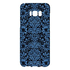 Damask2 Black Marble & Blue Colored Pencil Samsung Galaxy S8 Plus Hardshell Case