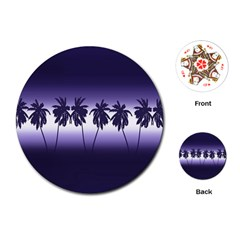Tropical Sunset Playing Cards (round)