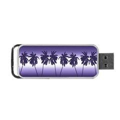 Tropical Sunset Portable Usb Flash (one Side) by Valentinaart