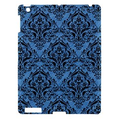 Damask1 Black Marble & Blue Colored Pencil (r) Apple Ipad 3/4 Hardshell Case by trendistuff