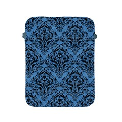 Damask1 Black Marble & Blue Colored Pencil (r) Apple Ipad 2/3/4 Protective Soft Case by trendistuff