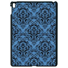 Damask1 Black Marble & Blue Colored Pencil (r) Apple Ipad Pro 9 7   Black Seamless Case by trendistuff