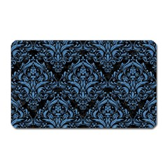 Damask1 Black Marble & Blue Colored Pencil Magnet (rectangular) by trendistuff