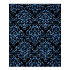 Damask1 Black Marble & Blue Colored Pencil Shower Curtain 60  X 72  (medium) by trendistuff