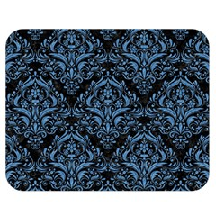 Damask1 Black Marble & Blue Colored Pencil Double Sided Flano Blanket (medium) by trendistuff