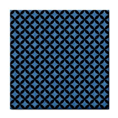 Circles3 Black Marble & Blue Colored Pencil (r) Face Towel by trendistuff