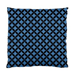Circles3 Black Marble & Blue Colored Pencil (r) Standard Cushion Case (one Side) by trendistuff