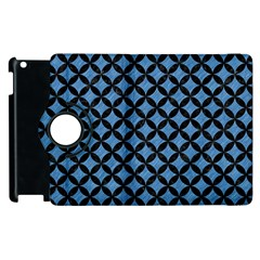 Circles3 Black Marble & Blue Colored Pencil (r) Apple Ipad 3/4 Flip 360 Case by trendistuff