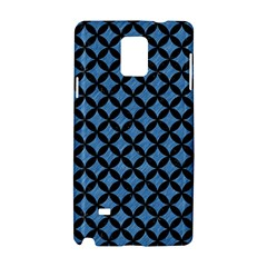Circles3 Black Marble & Blue Colored Pencil (r) Samsung Galaxy Note 4 Hardshell Case by trendistuff