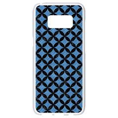 Circles3 Black Marble & Blue Colored Pencil (r) Samsung Galaxy S8 White Seamless Case by trendistuff